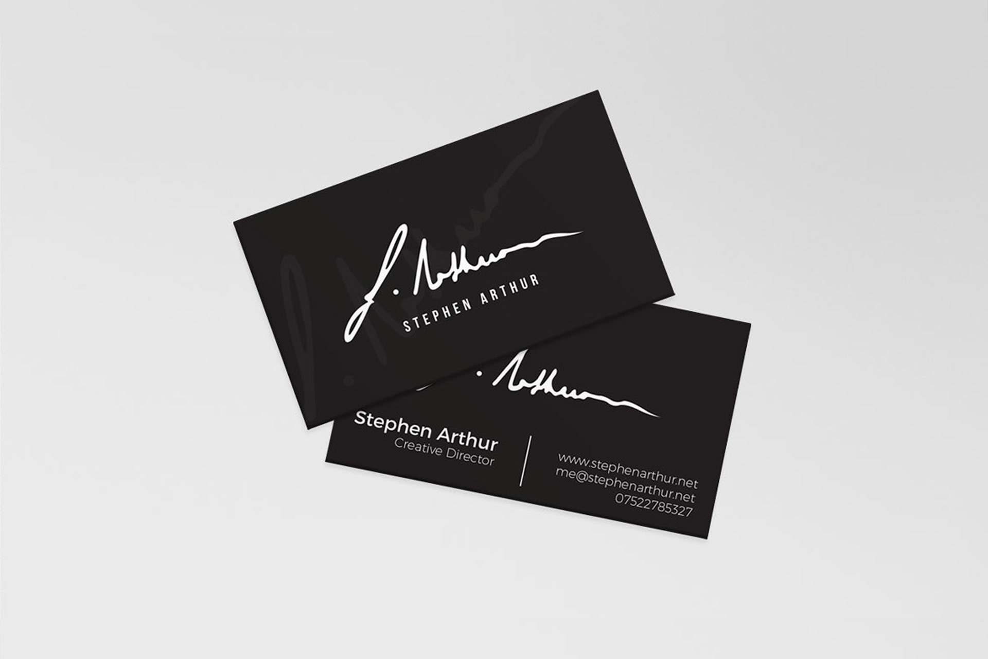 Inner city creatives stephen arthur business card and hand made signage design for stephen arthur a fashion designer and tailor from birmingham magicingreecefo Images