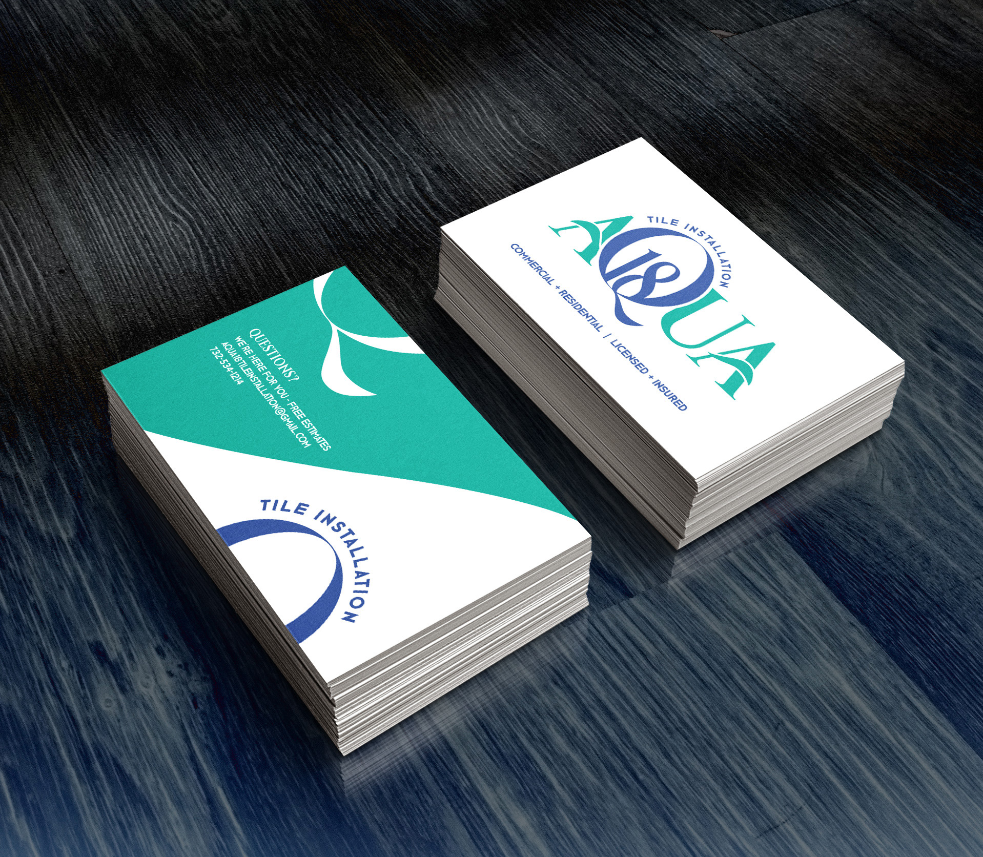Thinkink creations aqua logo and business card aqua logo and business card colourmoves Images