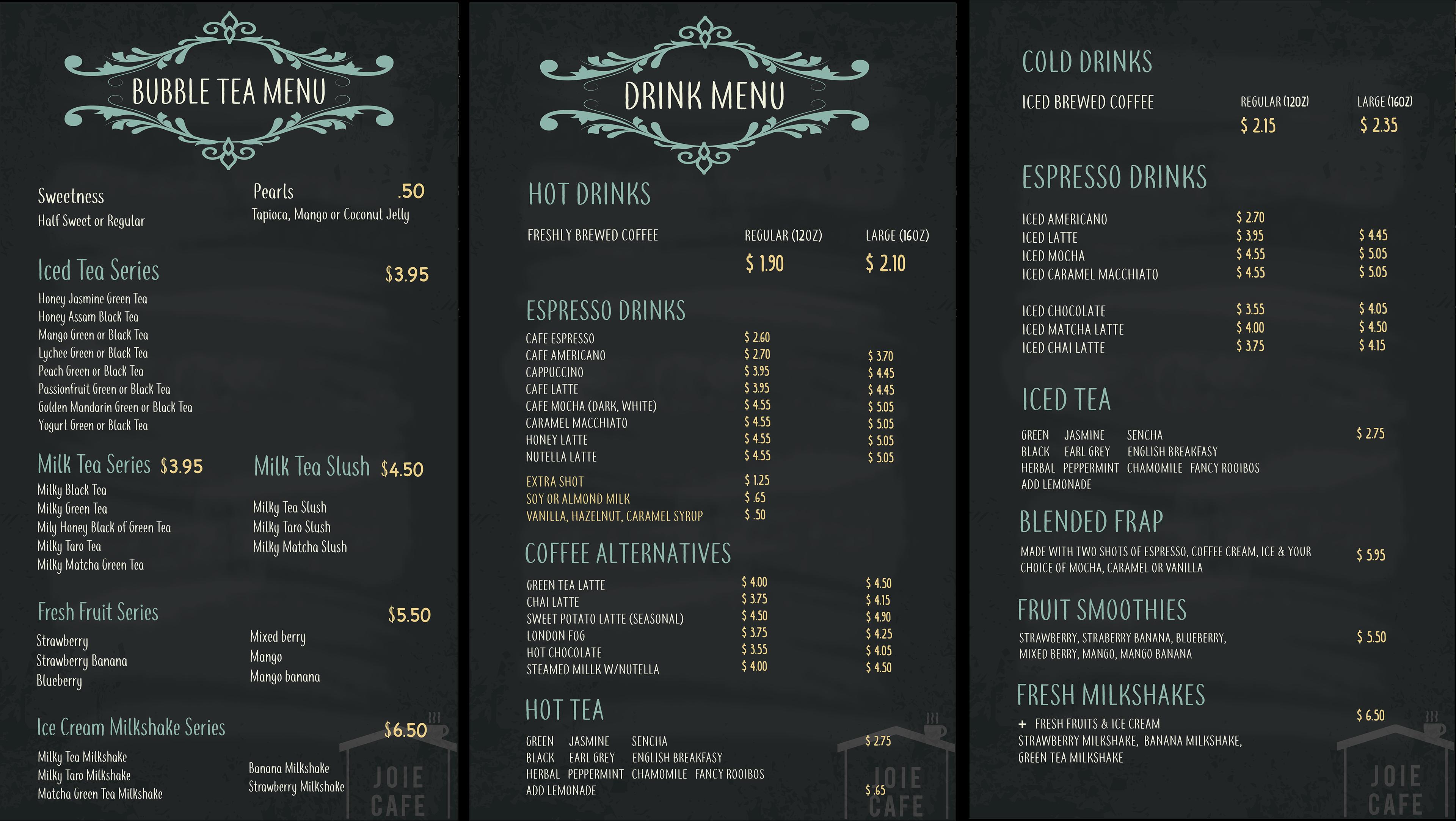 elaine yim - menu layout design