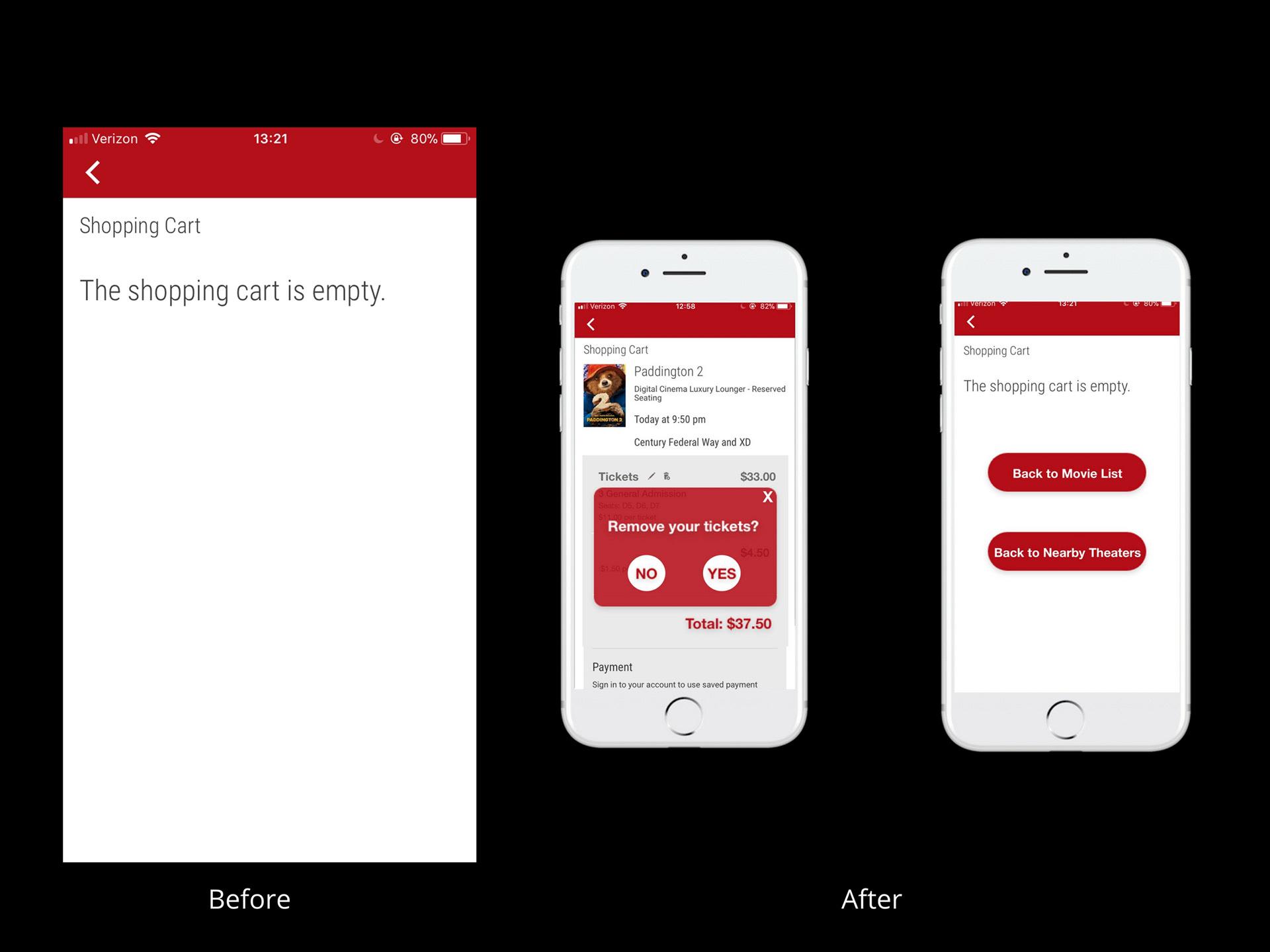 Yan Liu - Cinemark Theatres App - Redesign
