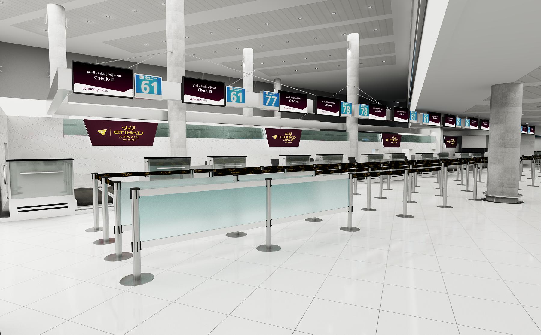 Clayton garcia etihad airways check in counters abu dhabi airport t3 - Etihad airways office in abu dhabi ...