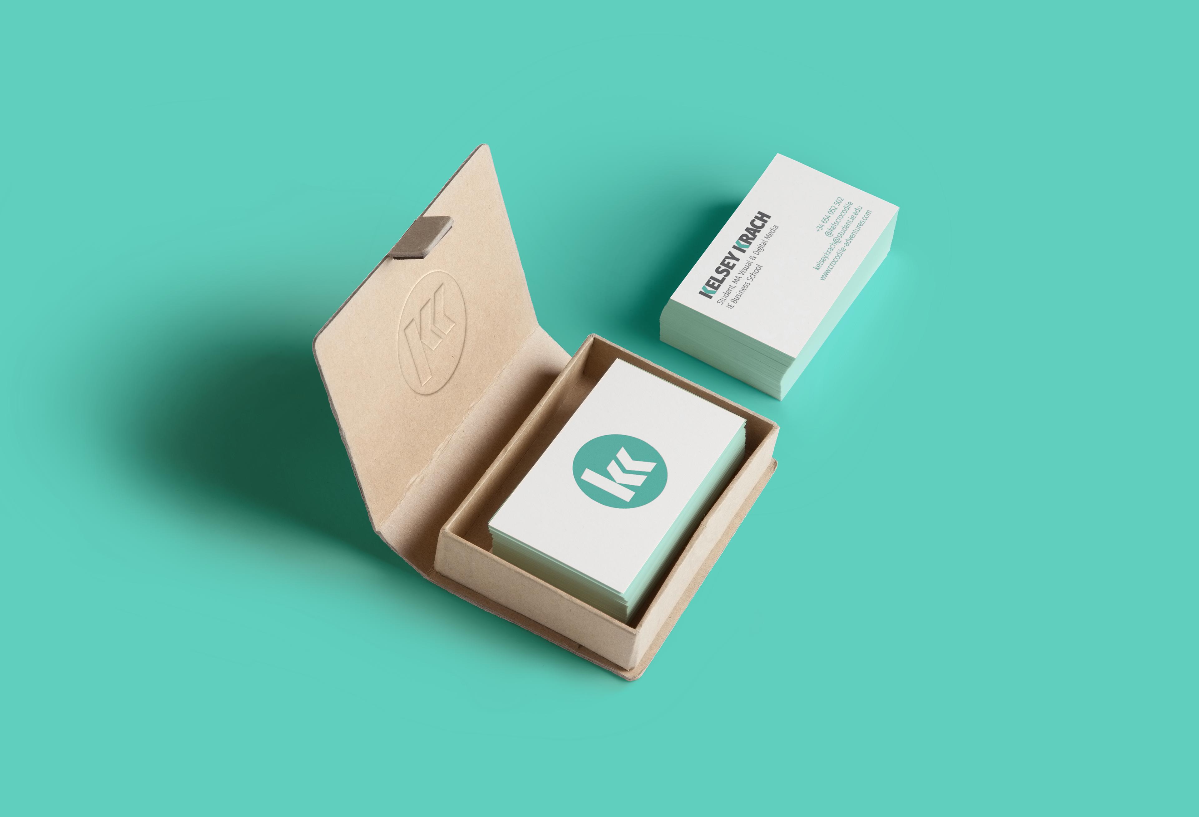 Kelsey Krach - Monogram Logo Business Cards