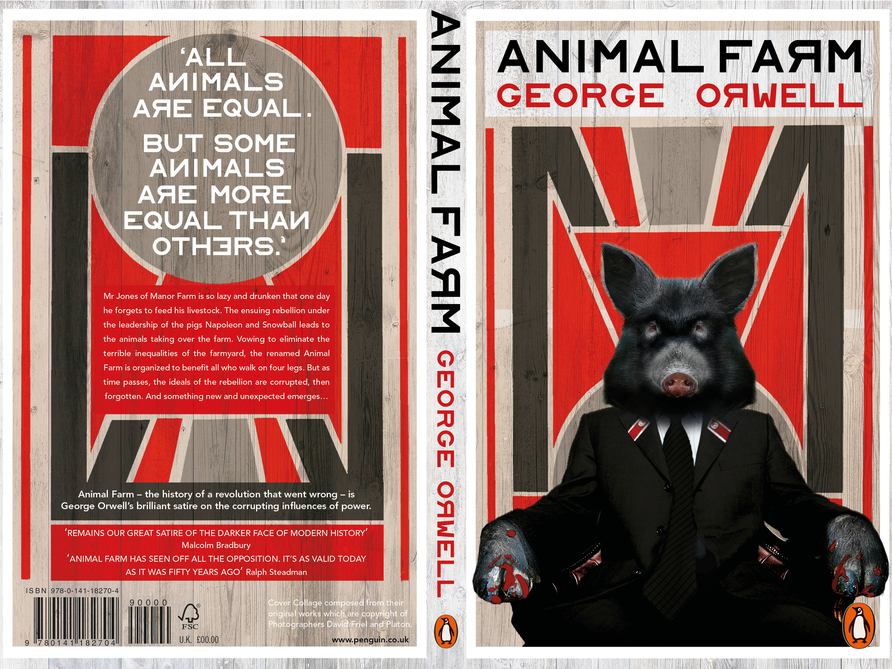 Simon Breese Animal Farm Book Cover Design