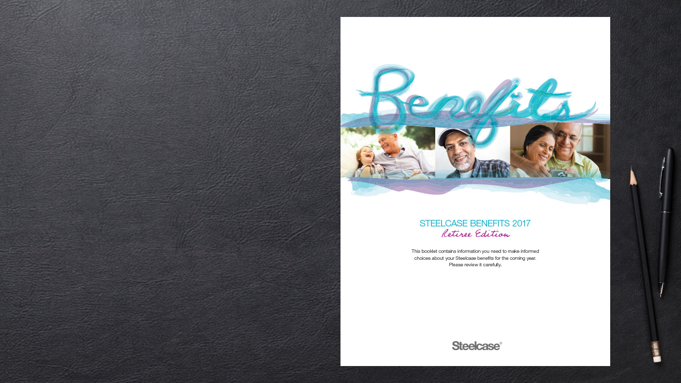 Hyde Creative Benefits Booklet Steelcase Original Retiree Edition - Employee benefits booklet template