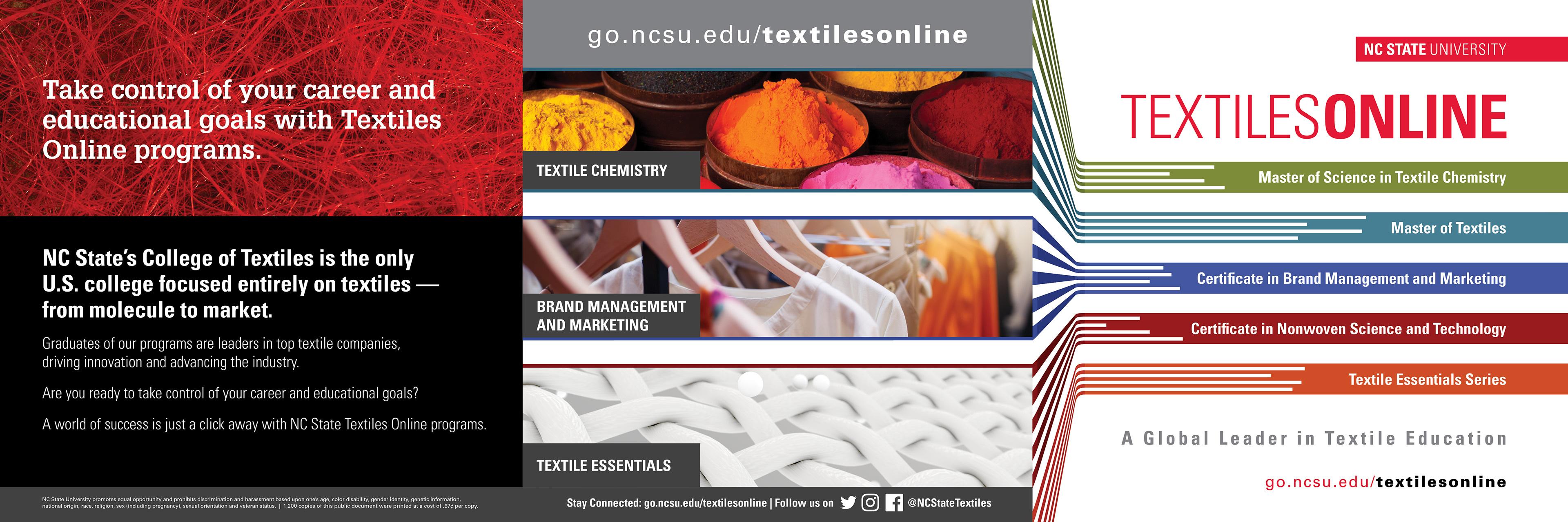 Rebecca Nicole Hazelett Nc State Textiles Print Piece 7 X 7 Tri Fold