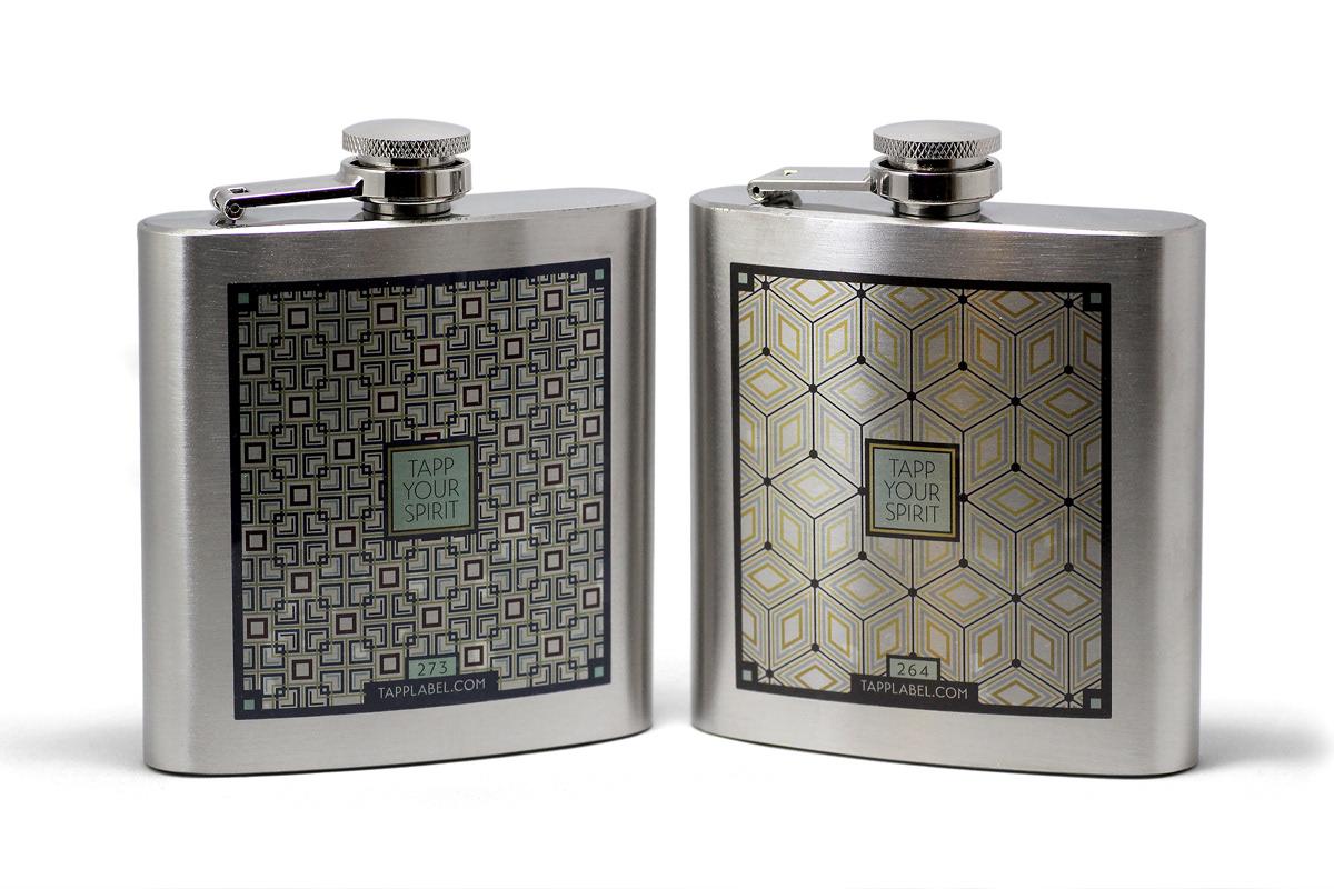 plumbline creative custom printed flask promo for american