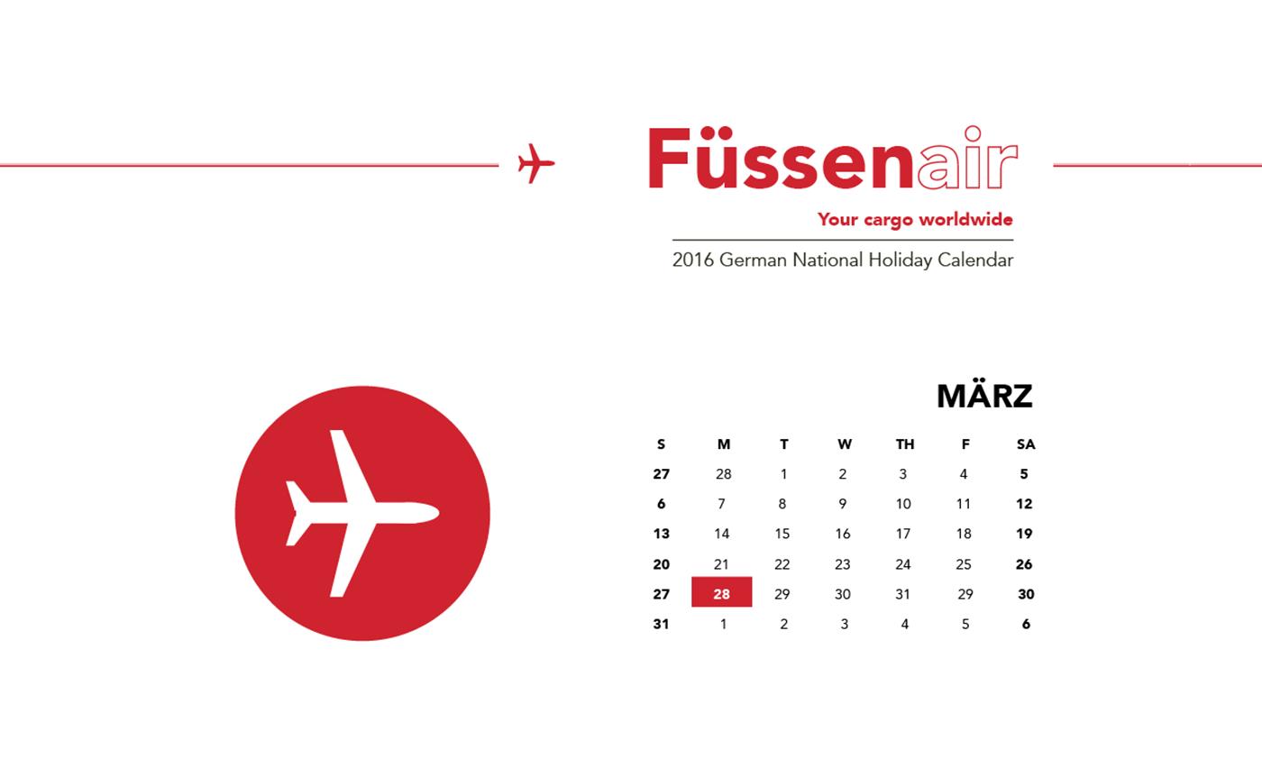 Shane Qureshi 2016 German National Holiday Calendar