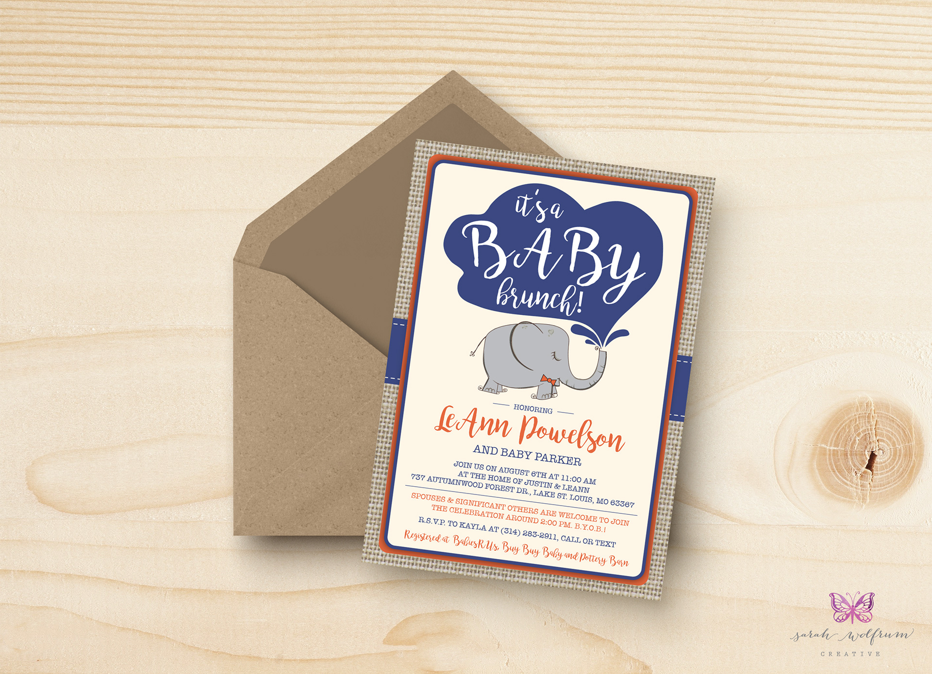 Excellent Baby Brunch Invitations Contemporary - Invitation Card ...