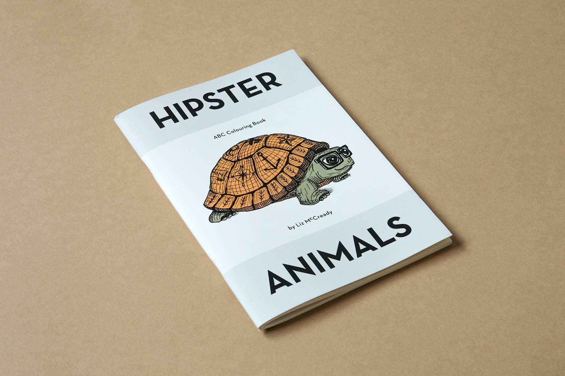 Hipster Animals An ABC Colouring Book