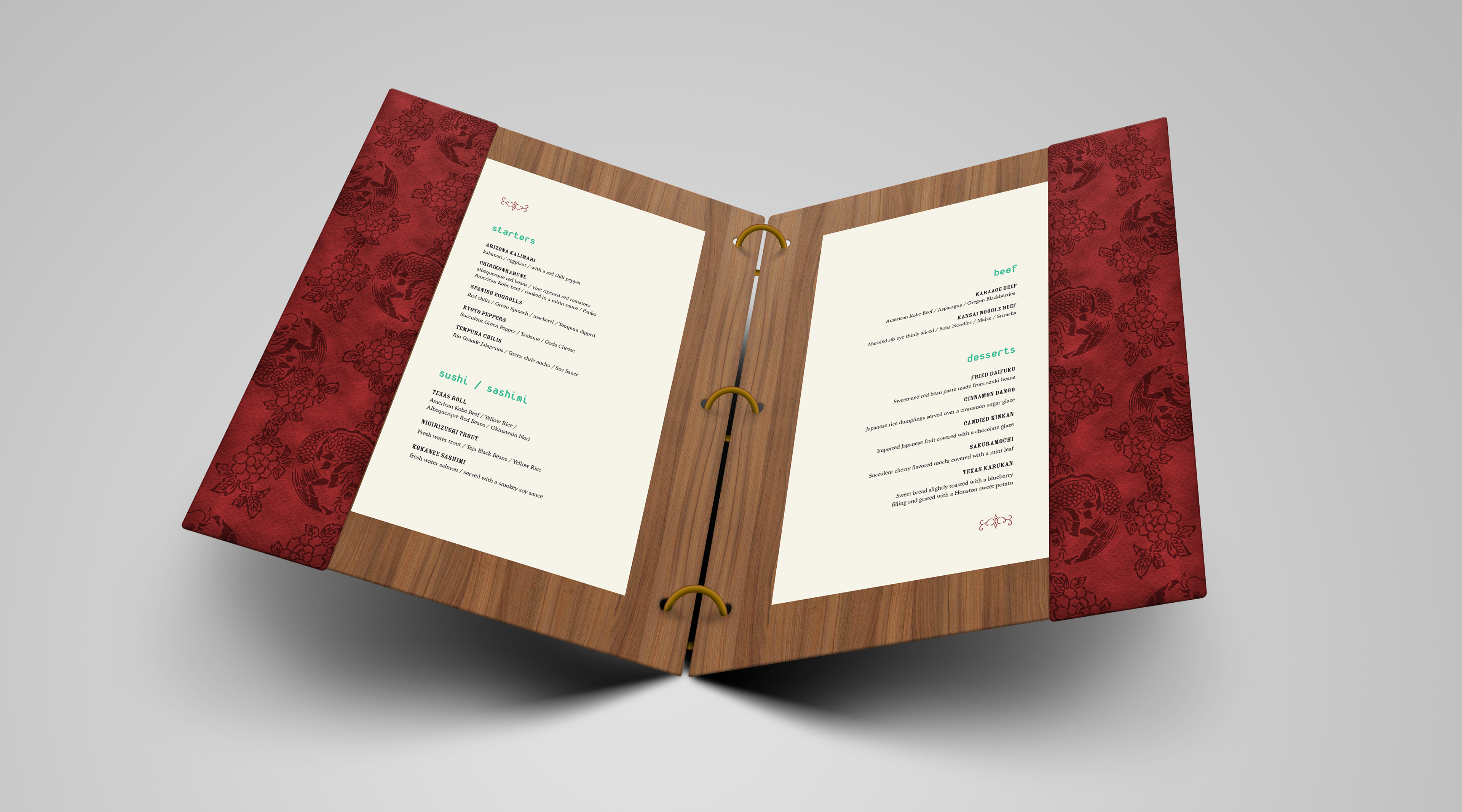 I Am Steve Fisher - Hakusha - Menu and Stationery Branding
