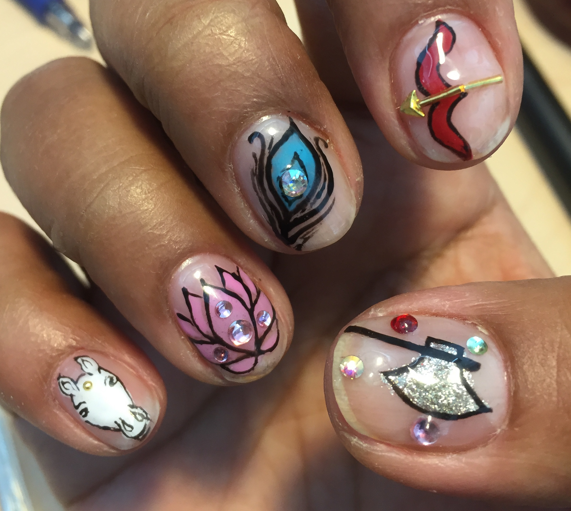 Sangeetha Kowsik Nail Art