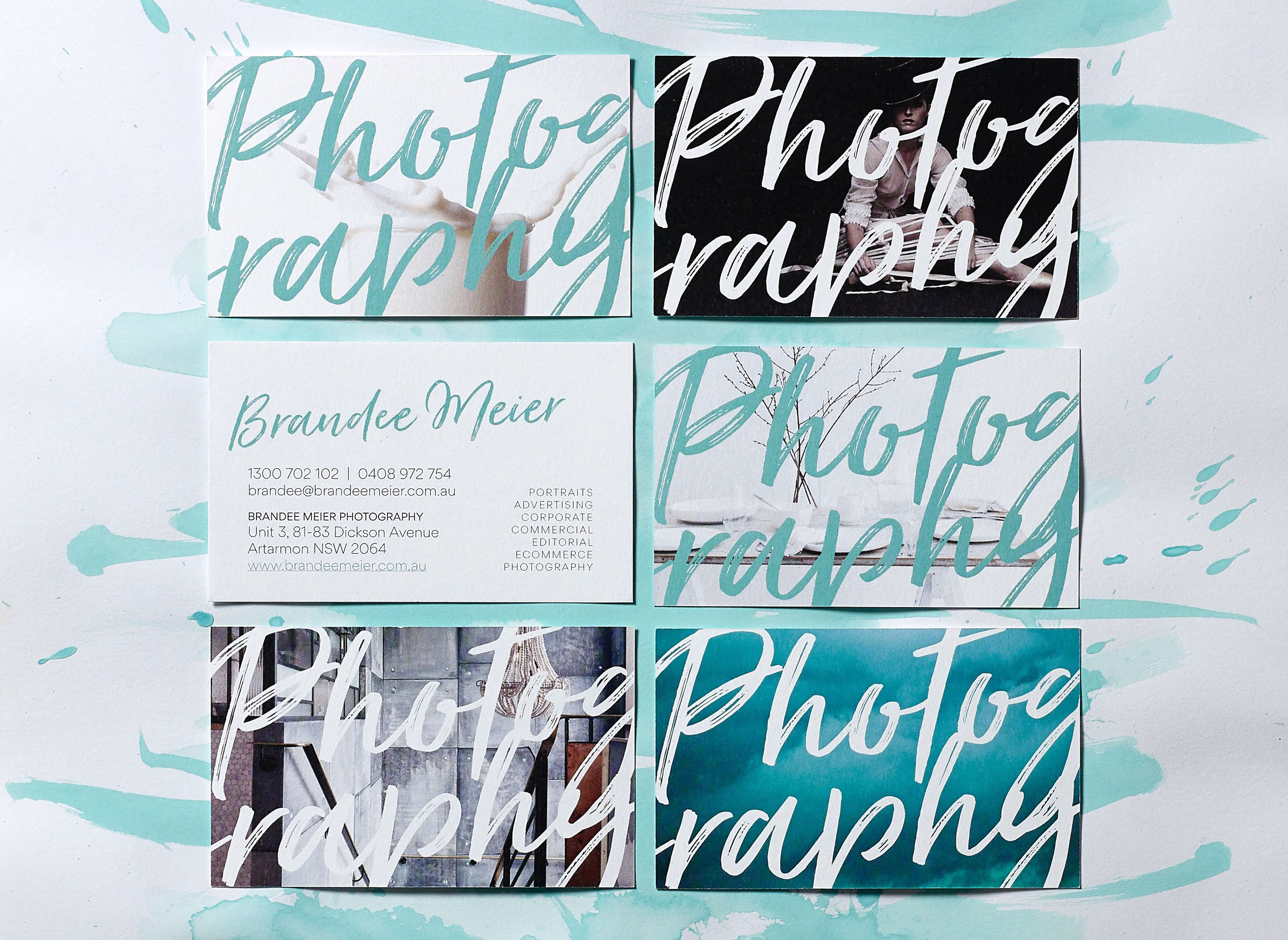 Georgette hall brandee meier photography photography on the back of her business cards a custom stamp enabled her to brand a variety of stationery quickly and easily and created a personal reheart Gallery