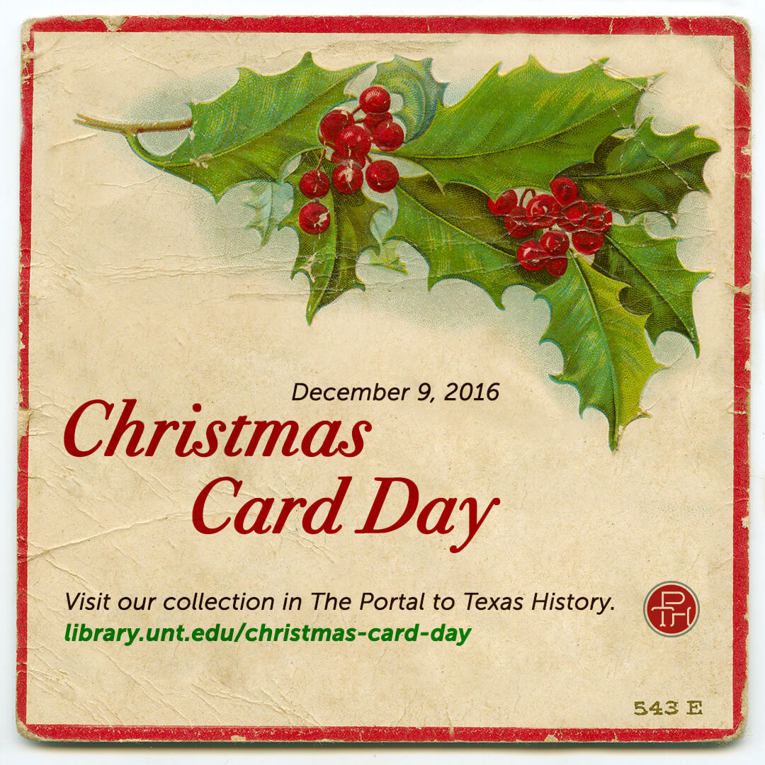 comes from a real christmas card from the portal to texas history online archive to preserve its interesting boarders i edited the image in photoshop - Texas Christmas Cards