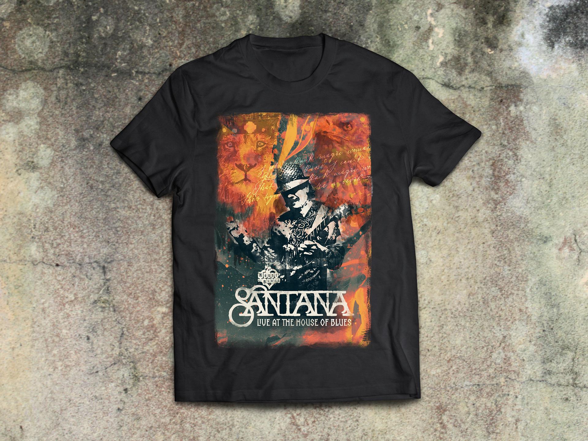 Adam Halverson Santana House Of Blues Las Vegas Merchandise 2016