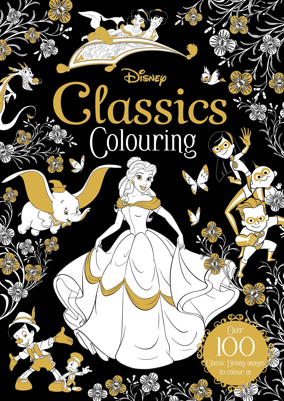 Adam Oliver Disney Classics Colouring Book