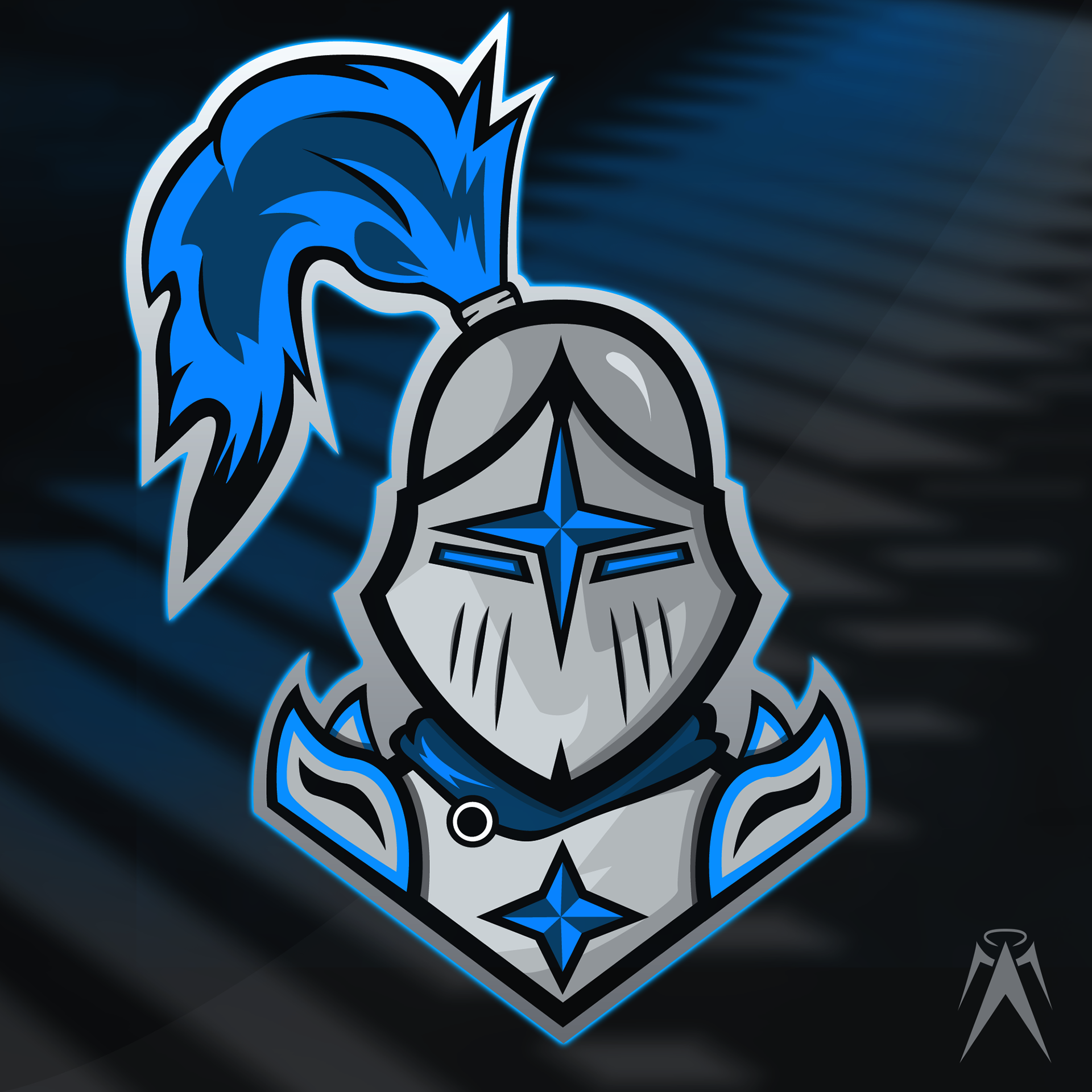 aaron chier quotknights mascotquot esports logo branding