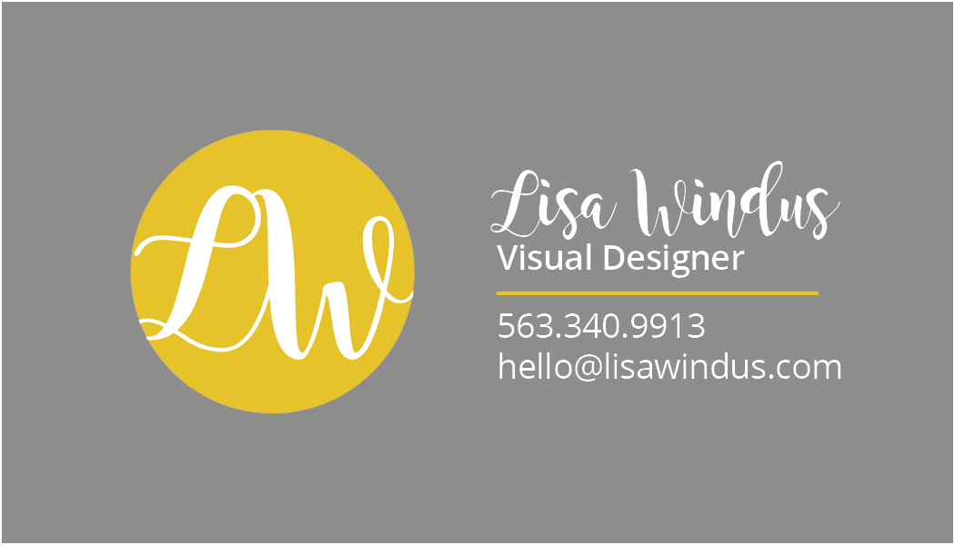 Lisa Windus - Logo and Business Card
