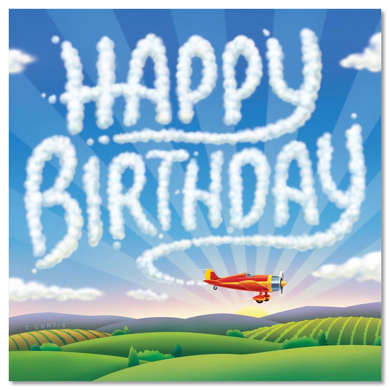 С днем рождения мужчине летчику открытка, рисунок