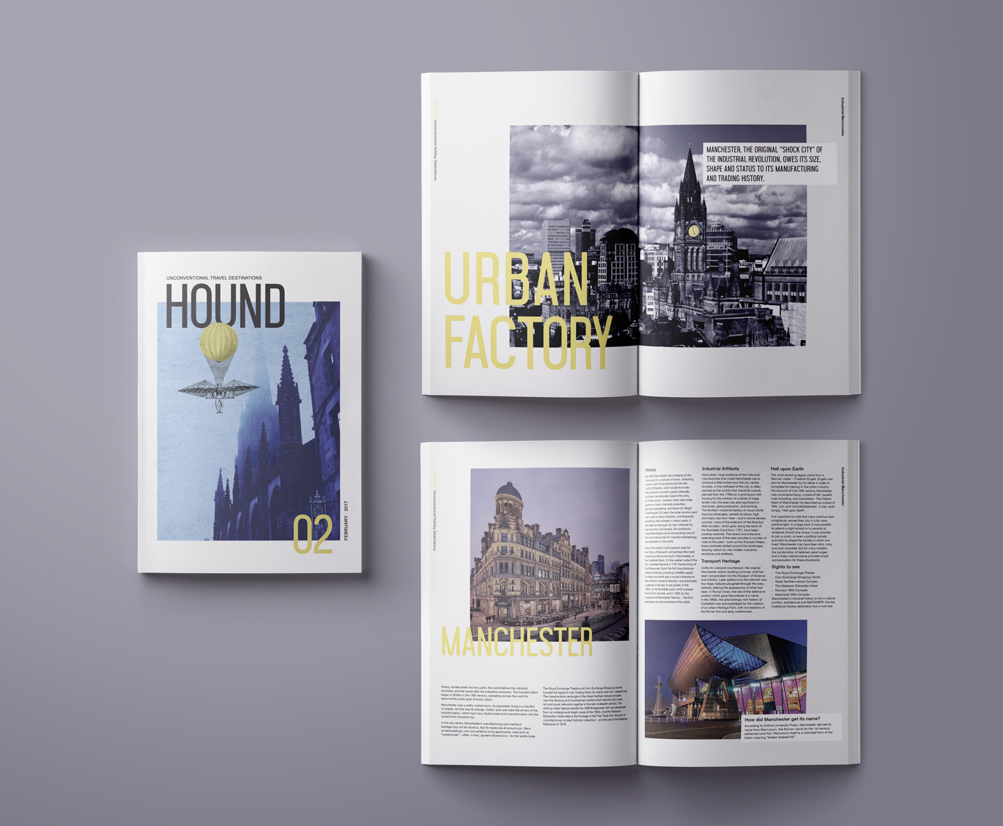 Magazine Cover Design And Spreads Layouts For Unconventional Destinations Travel Guide