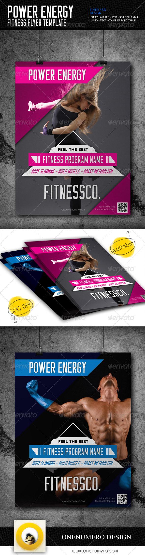 Ersan Mutlu Power Energy Fitness Flyer Template