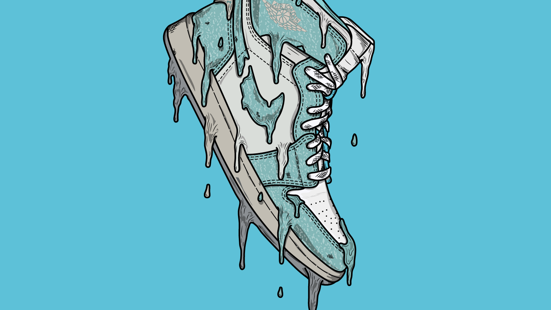 Drippy Nike Logo Drawing