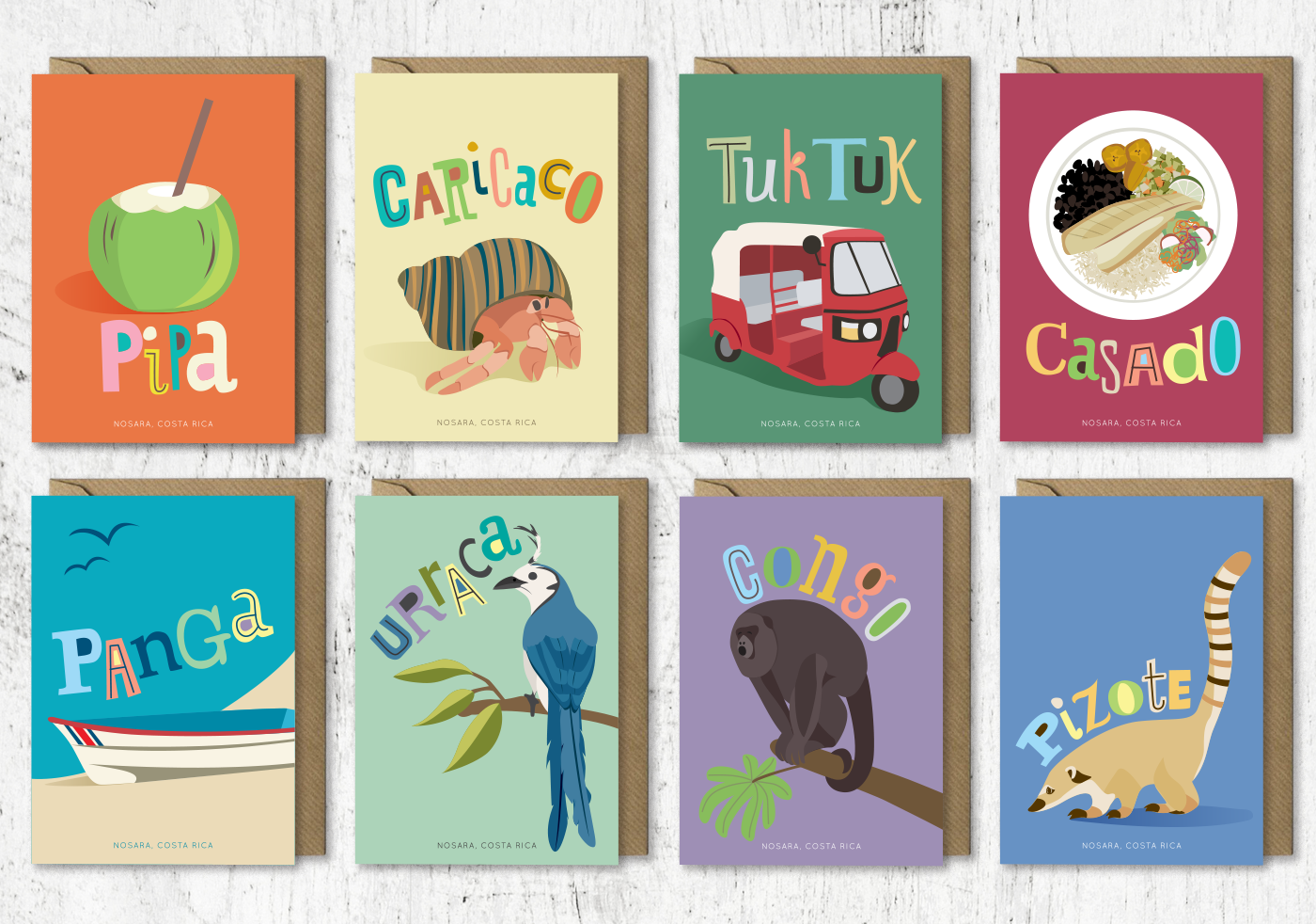 Bianca srebnick greeting cards a series of cards designed for the area of nosara costa rica m4hsunfo
