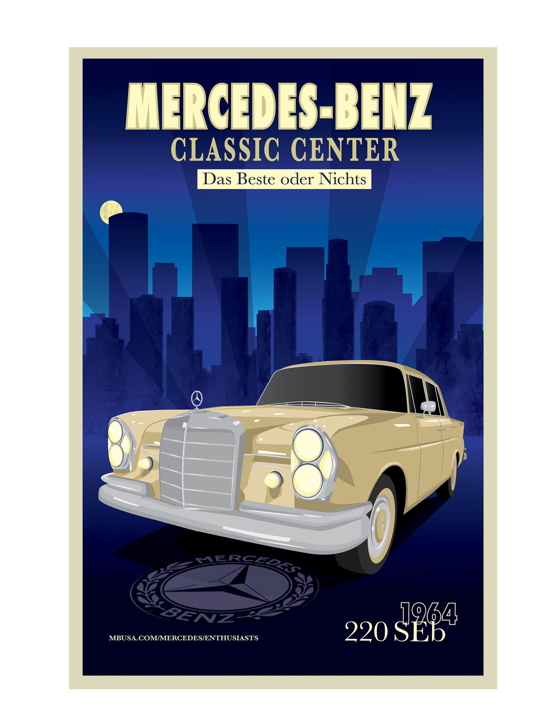 erin hiromoto mercedes benz classic center poster
