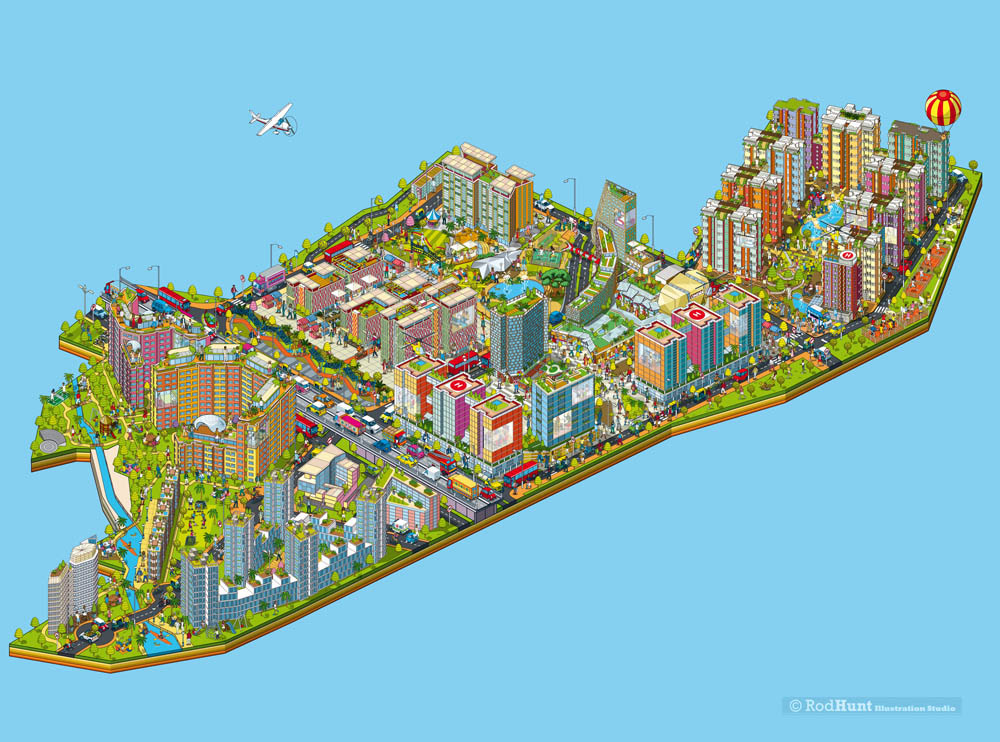 Rod Hunt / Illustration and Illustrated Maps - Map ... Map Illustrator on buenos aires map, internet map, word map, world map, print map,