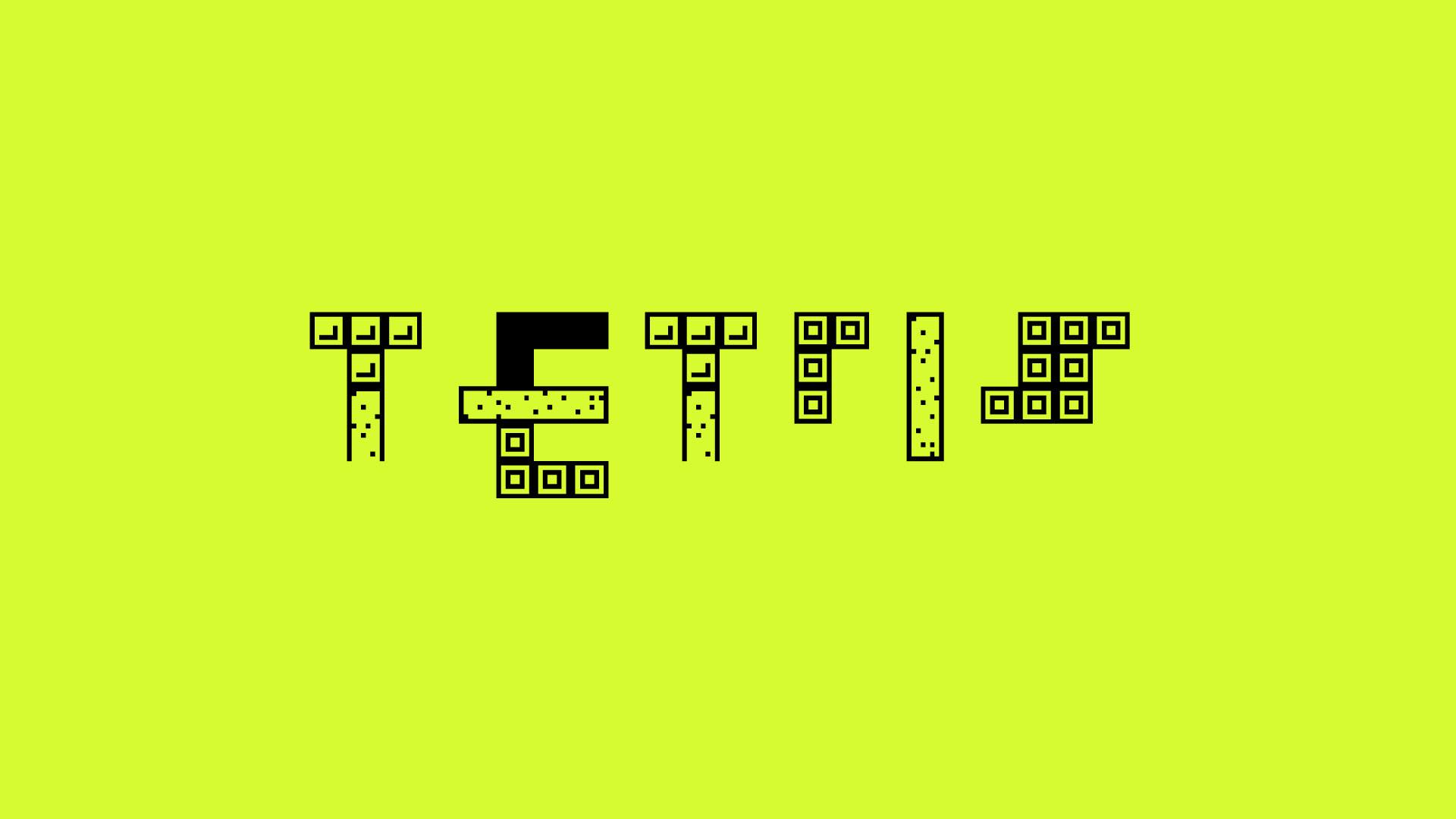 Ian Perkins Graphic Art - Graphics: Tetris Typeface Design