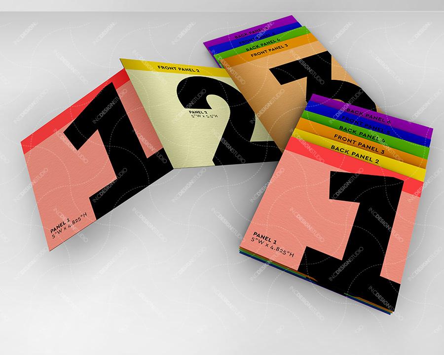 in c design studio mock up template zigzag tabbed accordion brochure