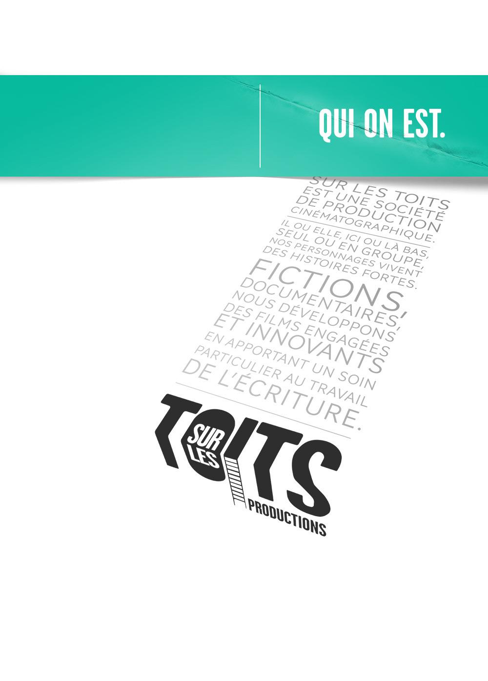 Communication Graphique De La Societe Production Sur Les Toits Logo Cartes Visite Dossier Presse Site Internet