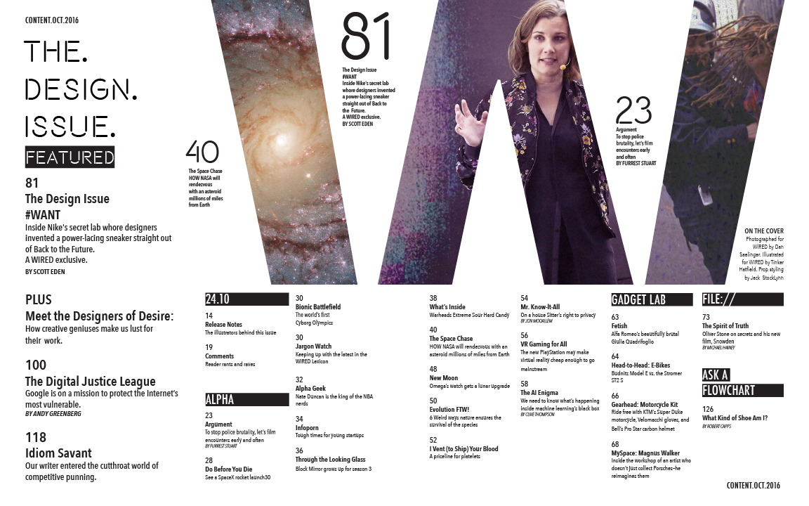Design by Anna Céline - layout design: table of contents