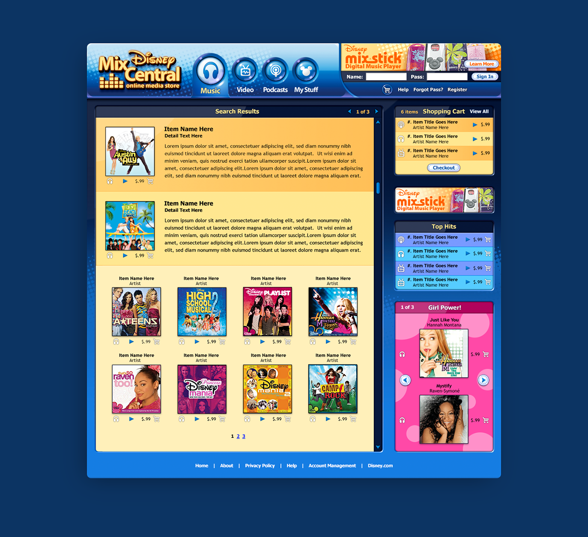 The Skins Factory, Inc  - Disney Mix Central: Online Music Store