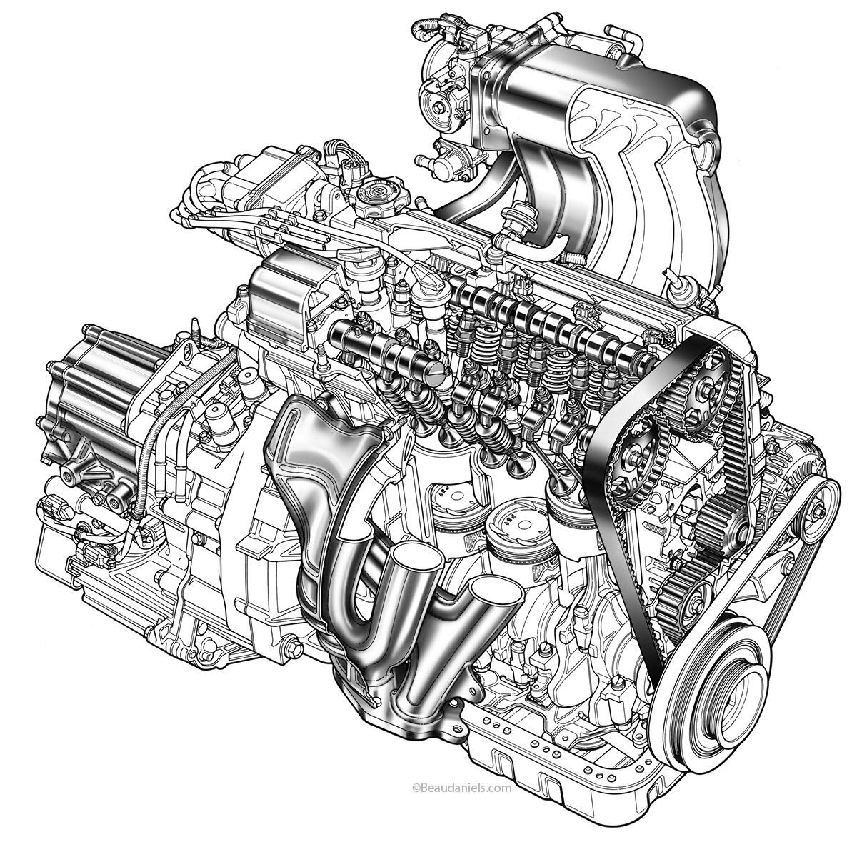 how to make a car engine