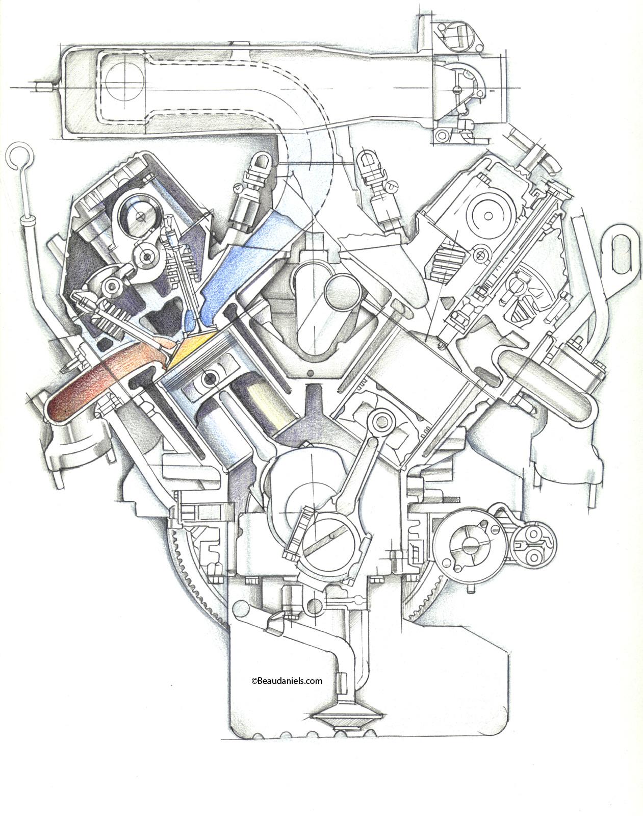 Technical Illustration Beau And Alan Daniels Cutaway