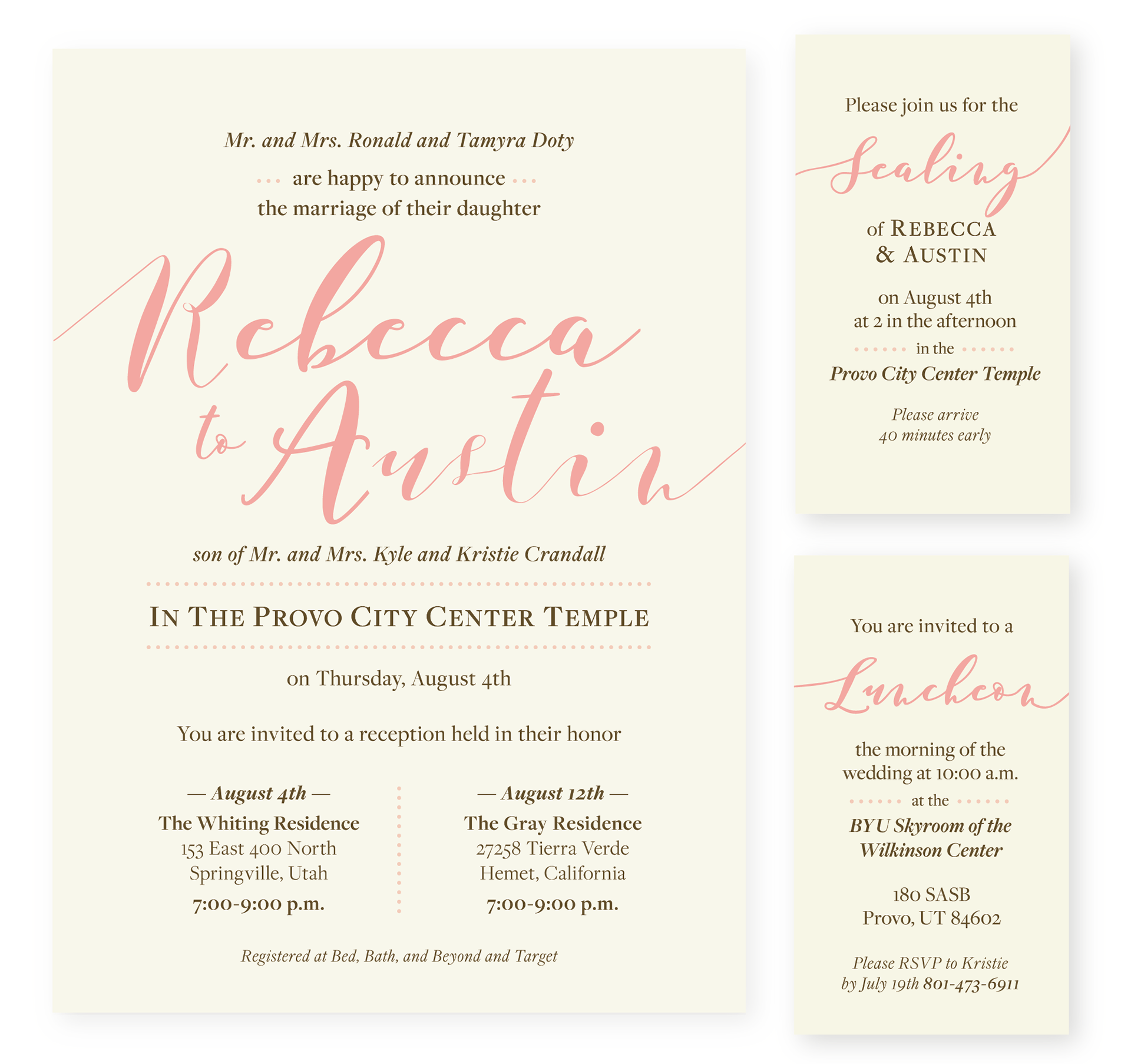 Kaylee dunn design simple classy sophisticated wedding invitation design monicamarmolfo Images