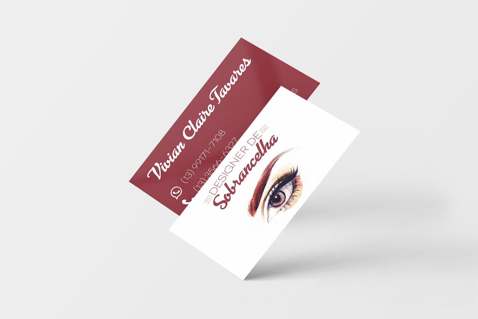 Suficiente Henrique Castello - Cartão de Visitas Design de Sobrancelhas YP57