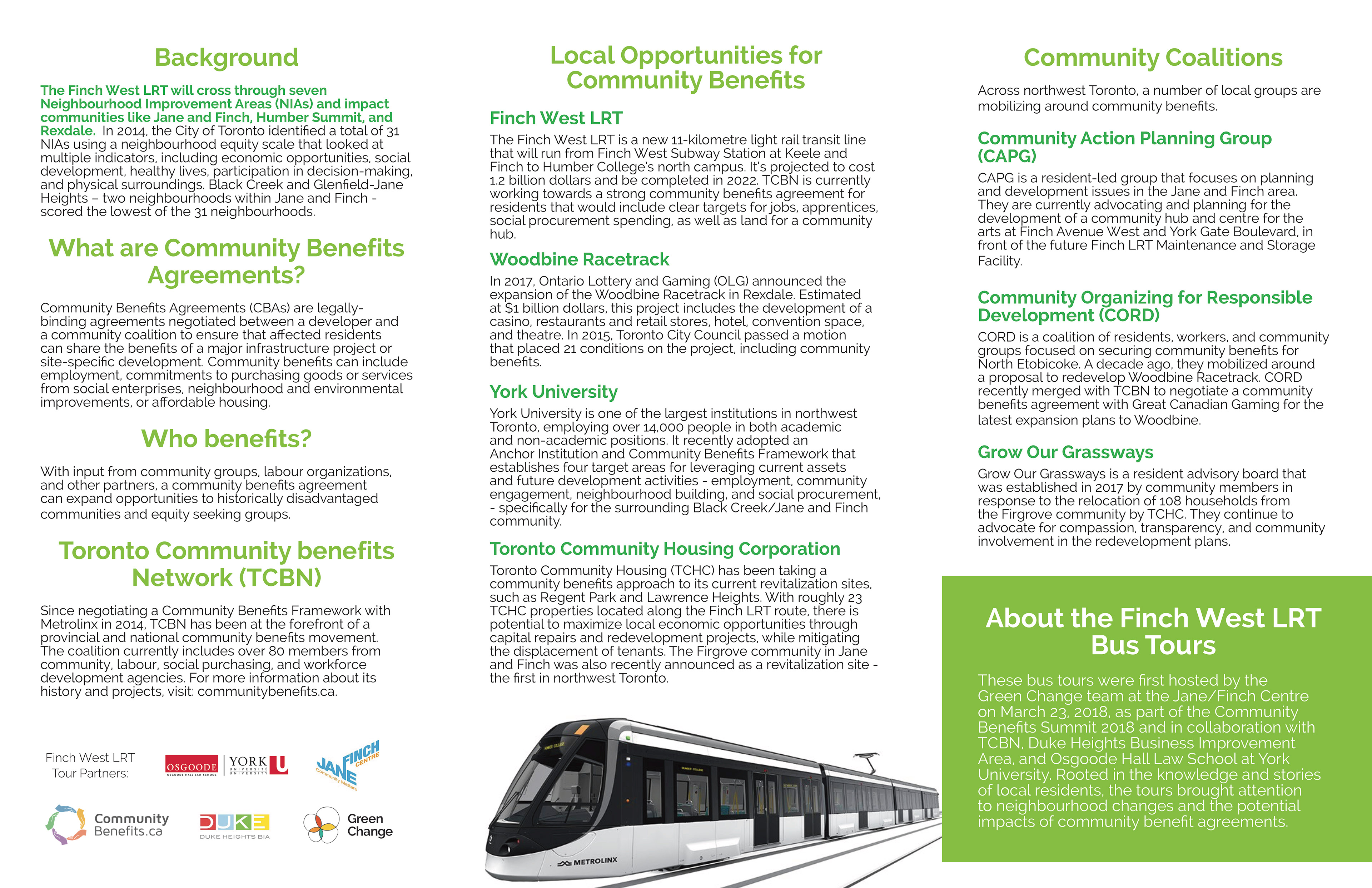 Laura Lebel Pantazopoulos Finch West Lrt Bus Tour Brochure Map