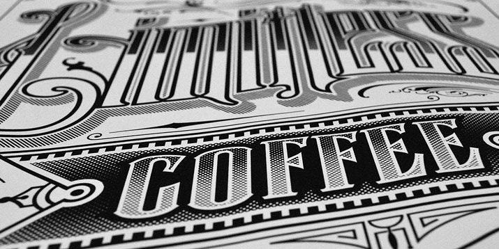 To Help With A Vintage Americana Typography Inspired Campaign Pitch For 7 ELEVEN I Love And Coffee So This One Was Lot Of Fun